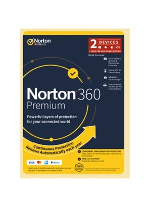 Symantec Norton 360 Premium 100GB 2 Devices